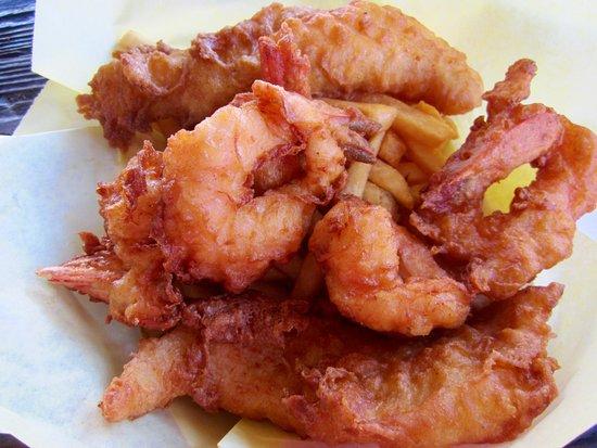 Railroad Fish & Chips: Shrimp, fish, and chips