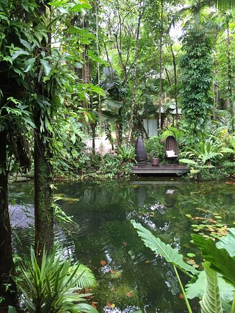 Julaymba Restaurant & Bar: Hanging chairs across the pond