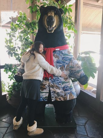 Sunriver, OR : lobby with mr bear