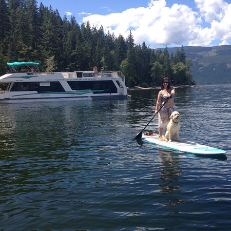 Sicamous, Canadá: SUP Yoga and SUP Lessons on beautiful Shuswap Lake