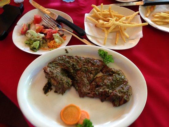 Playa Hermosa, Costa Rica: Churasco steak- very good.