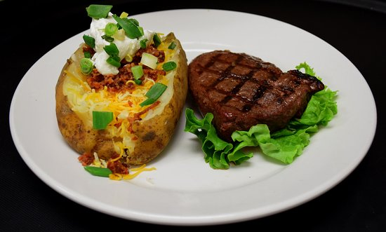 Seymour, IN: Our delicious sirloin comes with choice of side and a side house or caesar salad!