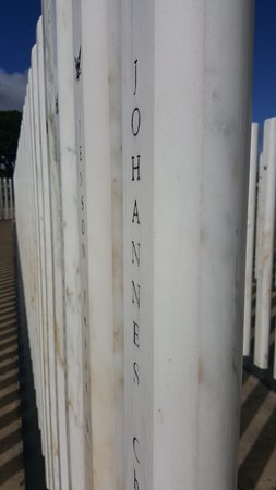 USS Oklahoma Memorial : Marble Post