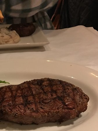 Oak Brook, IL: Ribeye and fries