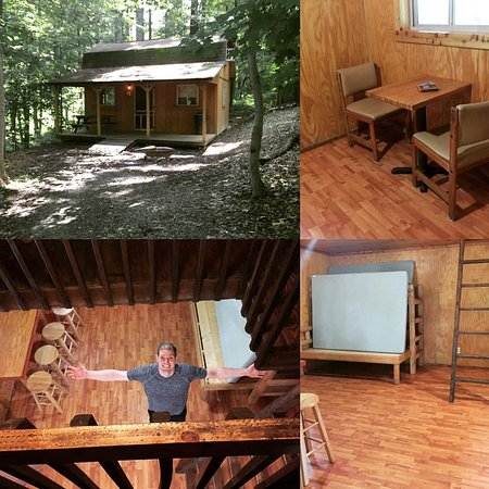 Lansing, WV: Our perfect rustic cabin for two (actually it would technically accommodate 6!)
