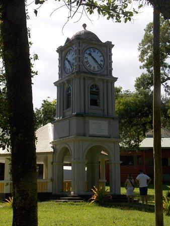 Suva, Fiji: The clock tower at the museum