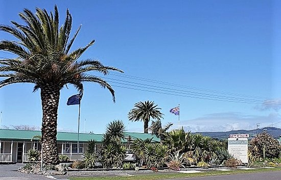 Waihi, Nya Zeeland: Our Motel from the road
