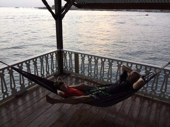 Carenero Island, Panama: relaxing outside our door
