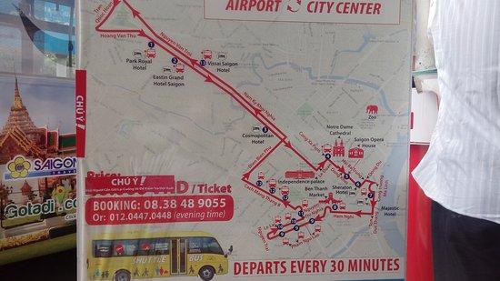 Routemap - Picture of Saigon Airport Bus SATSCO, Ho Chi Minh ... on bien hoa map, hanoi map, quang nam province map, shanghai map, red river map, hue map, java sea map, gulf of tonkin map, jakarta map, bangkok map, vientiane map, da nang map, guam map, manila map, dien bien phu map, ho chi minh city map, vietnam map, cambodia map, seoul map, rangoon map,