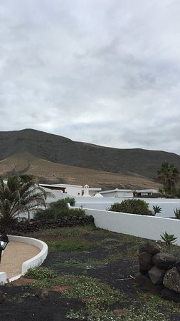 Famara, España: Our view for breakfast