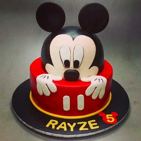 Remarkable Kids Birthday Cake Mickey Picture Of Deliciae Patisserie Personalised Birthday Cards Beptaeletsinfo