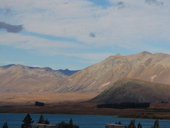 "Uitzicht vanuit ""Nordic Escape"" over Lake Tekapo."