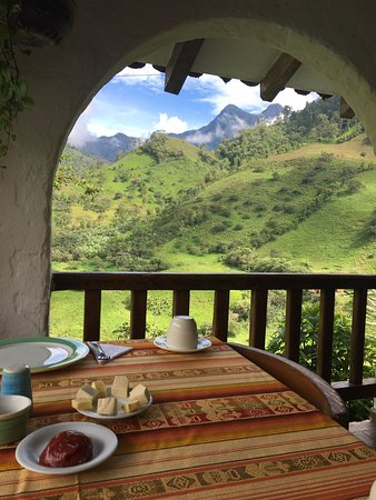 Hacienda Primavera Wilderness Ecolodge: The most magical breakfast view ever!