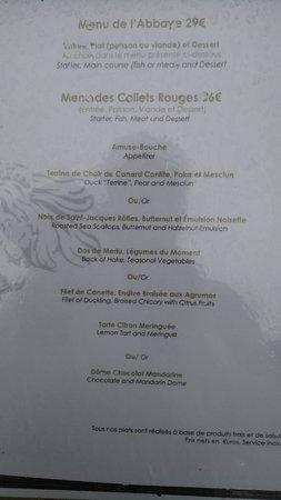 Soreze, France: Cherchez l'erreur (Menu à 36€, viande + poisson, ou bien viande OU poisson