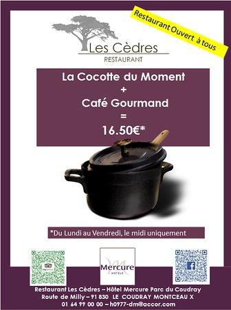 Le Coudray Montceaux, France: La cocotte du moment, seul ou a partager