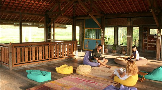 Penebel, Indonesia: Relax  with a 360 degree view of the rice terrances or Read one the inspiring books in the libra