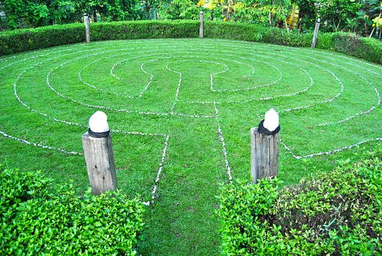 Penebel, Indonesia: Labyrinth walking meditation.
