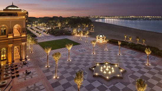 Emirates Palace: Palace Terrace Elevated View