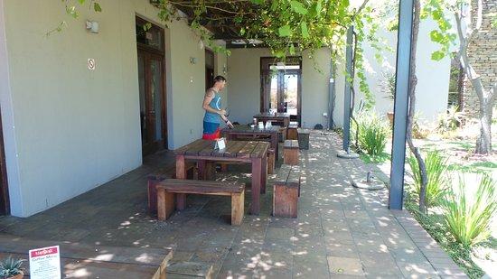 Robertson, Sudáfrica: Nice shady seating