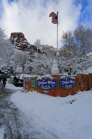 The Canyon Wren - Cabins for Two: Entrance to Canyon Wren