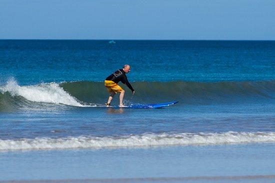 Santa Cruz, Costa Rica: My dad learning new tricks, with Avellanas Surf School.