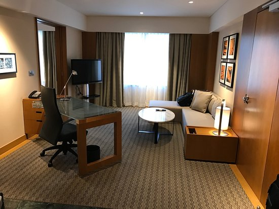 Grand Hyatt Singapore: view as you enter, grand deluxe room.