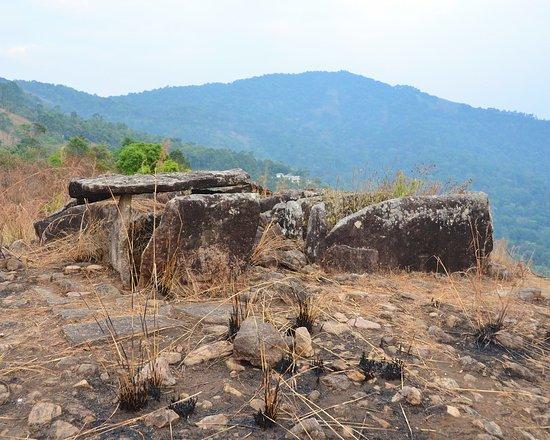 Muniyara Dolmens: Dolmens, with Bison Valley in background