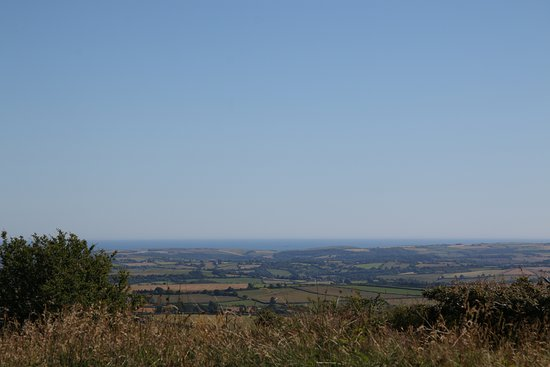 Kit Hill: View from just below the stack overlooking Plymouth and the Sound