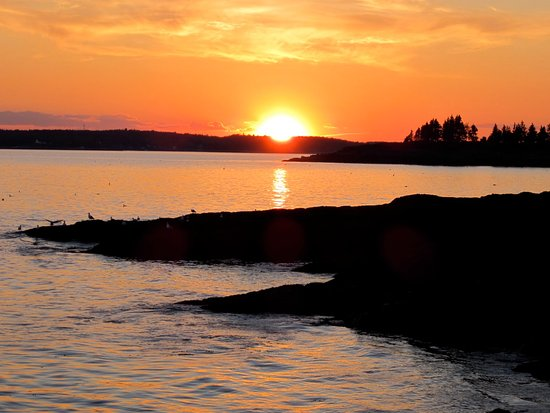 East Boothbay, ME: Sunset at Ocean Point maine