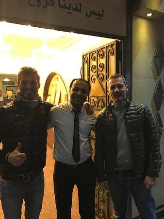 El Masry: Our Waiter waved us good bye.