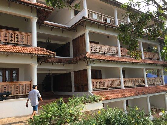 The travancore heritage beach resort bâtiment des chambres premium mansion