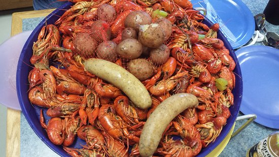 Harvey, LA: crawfish and sausage