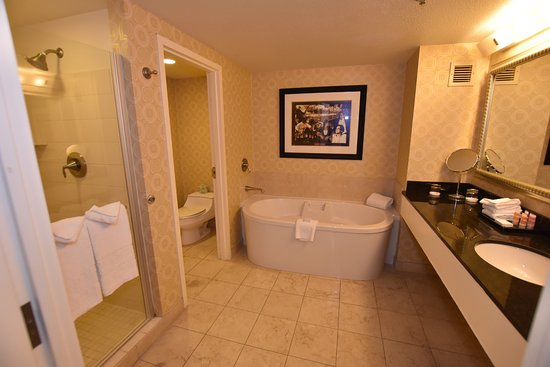 Large bathroom with separate shower stall and toilet room. - Picture ...