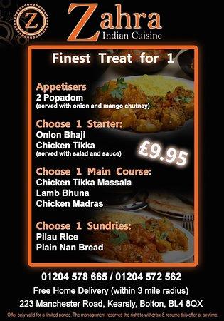 Zahra indian cuisine kearsley restaurant reviews phone for Cuisine zahra