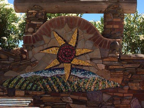Tobin James Cellars : Mosaic Tile artwork outside