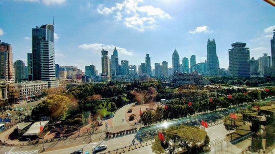 Shanghai Urban Planning Exhibition Hall: View across to Shanghai Museum