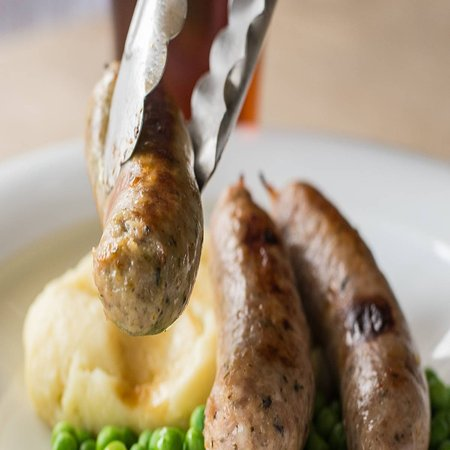 Cannington, UK: Our local butchers do fantastic flavours in our trio of sausages