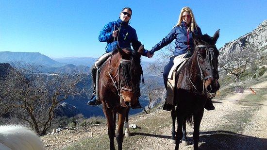 El Chorro, Espanha: Riding suitable for beginners www.horseridingelchorro.com