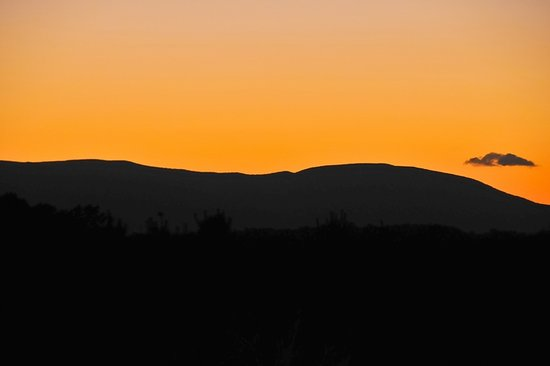 Madison Heights, Virginie : Sunset at Winridge Manor over the Blue Ridge Mountains