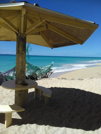 Crab Hill, Antigua: View from the front of the restaurant