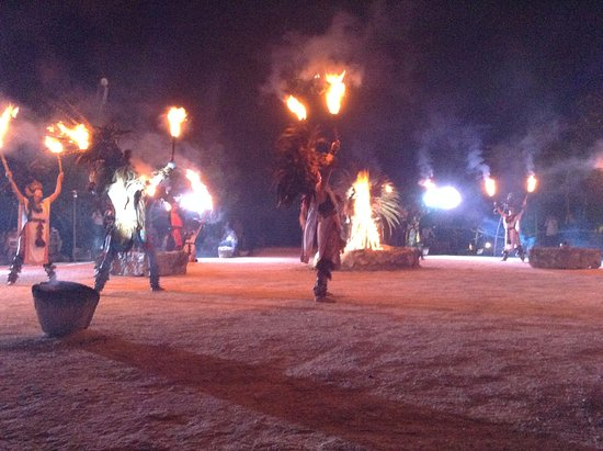 Sandos Caracol Eco Resort: Mayan Fire Show.  Amazing job of storytelling, riveting!  Transported the viewer back in time.