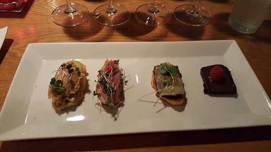 The Wine House: Tapas served paired with the wine Flight.