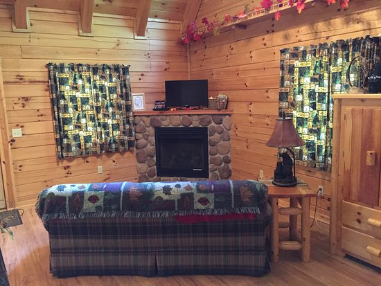 New Plymouth, OH: Dogwood Cabin living area