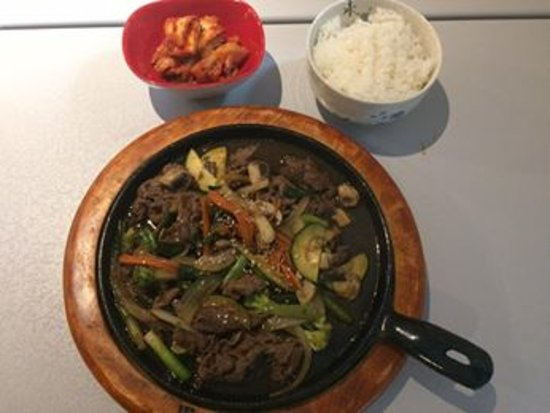 Duncan, Καναδάς: Korean Bulgogi (Spicy Beef in a Stone Dish) Come with Rice & Miso Soup Only $12.95
