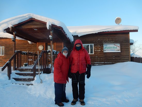 Bettles Lodge: Donna & John Phillips, January 2017, Aurora Lodge in Bettles at -60o.