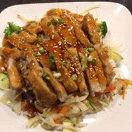 Duncan, Canadá: Chicken Teriyaki Bowl with Miso Soup $11.95
