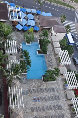 Overhead View Of Swimming Pool Picture Of Waikiki Beach