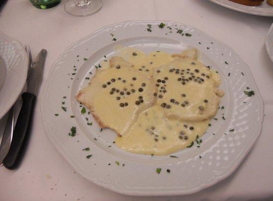 Gattatico, Italia: Scalopine al pepe verde