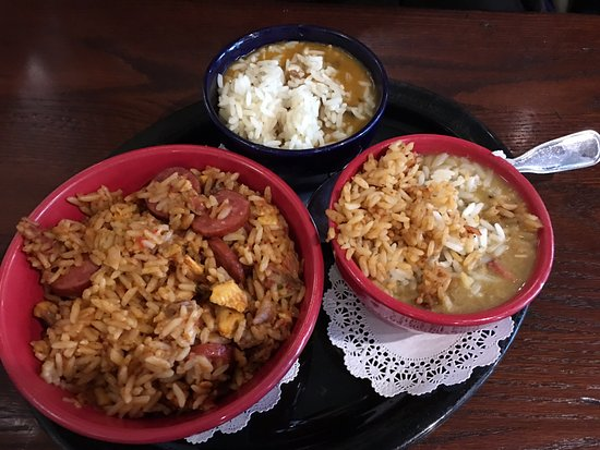 Trio Sampler Of Gumbo Jambalaya And Etouffee Picture Of Clementine S San Ramon Tripadvisor