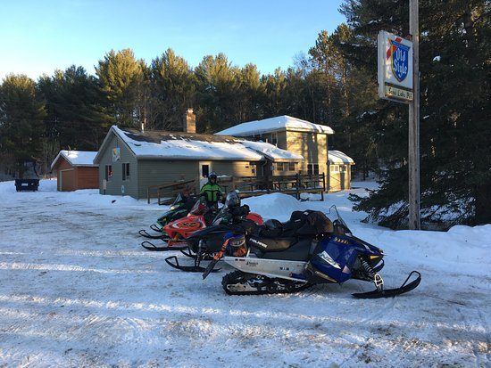 Phelps, WI: Plenty of parking right off trail # 6